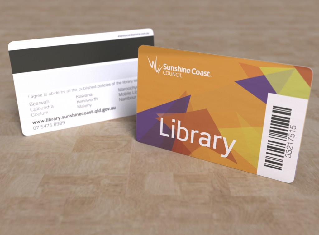 Library cards express print group sunshine coast library orange colourmoves